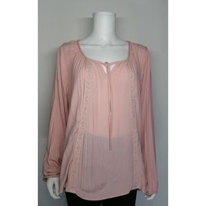 Mossimo Blush Blouse Size XL